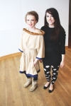 "Designer Heidi Woelfle with her model Ashley Stewart modeling ""Absolute Zero."""